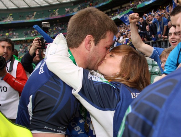 Sean O'Brien celebrates with his partner 19/5/2012