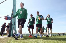 Glenn Whelan sits out training… with a sore throat