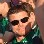 Brian O'Driscoll in relaxed mood.