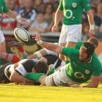 Ireland's John Muldoon off loads