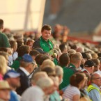 Ireland skipper, Brian O'Driscoll in the crowd.