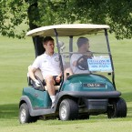 Shane Long drives the buggy while Doyler plots his next move.