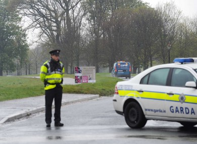Gardaí closed off part of the North Road in the Phoenix Park as the Army Bomb Disposal team investigated