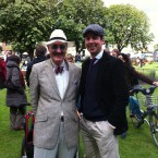 Joe McCarthy, organiser of Bloomsday Sandymount with Eoghan Murphy who popped up at a number of events today. 