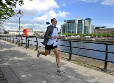 Mark Kenneally at the launch of the Grant Thornton Corporate 5k Team Challenge earlier this week. For more information, see www.grantthorntoncorporatechallenge.ie.