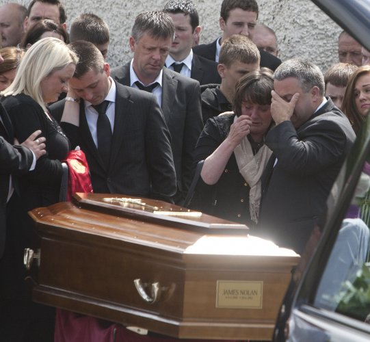 25/6/2012. James Nolan Funeral. L to R.Scenes of d