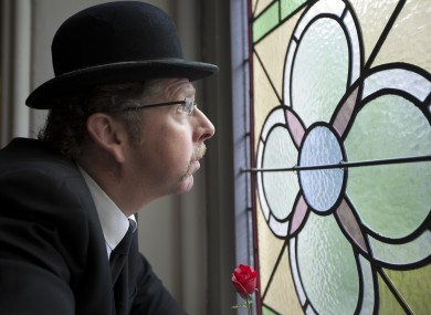 Les Doherty as Leopold Bloom, the main character in James Joyces famous novel Ulysses, during the launch of the Bloomsday Festival in Dublin.