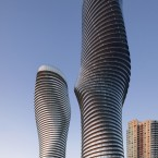 Dubbed the Marilyn Monroe building, due to its sexy curves, Absolute Towers has added a new landmark to the skyline of Mississauga, the fast-growing suburb of Toronto. The architects sought to add to something naturalistic, delicate and human in contrast to the backdrop of listless, boxy buildings. The design features smooth, unbroken balconies that wrap each floor of the building. The torsional form of the towers is underpinned with a surprisingly simple and inexpensive structural solution.