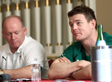 Ireland manager Declan Kidney and Brian O'Driscoll