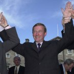 Enda beat off competition from Phil Hogan, Gay Mitchell and Richard Bruton when ran for Fine Gael leader for the second time in 2002, 27 years after he had first entered the Dáil. Not fully convinced by Gay Mitchell's attempt to be a gracious loser in this pic...