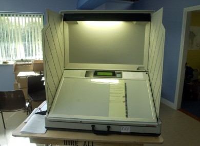 The e-voting machines (File)