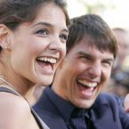 Katie Holmes and Tom Cruise at the premiere of Batman Begins in Hollywood in 2005. (Photo: AP Photo/Chris Weeks/File)