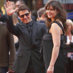 Tom Cruise waves to the crowds with then-fiance Katie Holmes at the premier of Mission Impossible III in May 2006 (AP Photo/Lucas Jackson)
