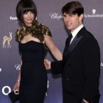 Tom Cruise and Katie Holmes on the red carpet at an awards ceremony in Germany in November 2007 (AP Photo/Miguel Villagran)
