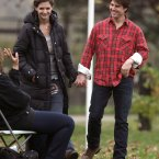 Tom Cruise visiting his wife on the set of her film The Romantics in Long Island in New York in 2010 (Photo: /ABACA USA/Empics Entertainment)