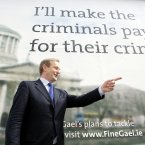 Not even criminals can escape from Enda pointing at them (Photo: Photocall Ireland)