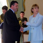 Mary McAleese receives Lenihan after his first appointment to the Cabinet, as children's minister