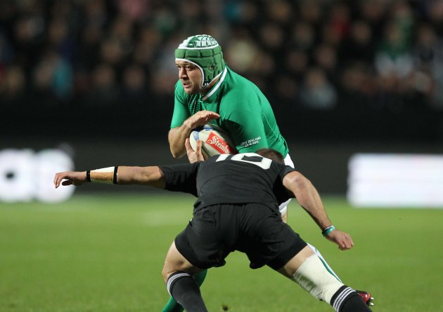 Rory Best tackled by Aaron Cruden  23/6/2012