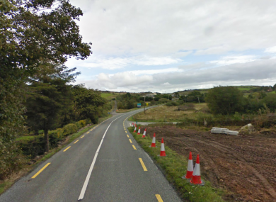 General view of the road at Clooneshil, near where the accident took place