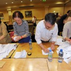 Counting the ballot papers in the Campaign for the European Fiscal Stability Treaty Referendum begins at the Dublin City count centre in CityWest. (Laura Hutton/Photocall Ireland)
