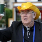 Fr James Hyland from Inchicore pictured on the opening day of the International Eucharistic Congress at the RDS, Dublin. Photo: Laura Hutton/Photocall Ireland
