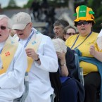Pilgrim Breda Lanigan from Dublin has her colours out for the IEC2012 and Euro2012 maybe?