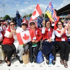 This group from Vancouver, Canada were among the 12,500 pilgrims at the RDS today.