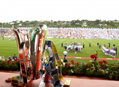 The Munster hurling trophy on display last year in Páirc Uí Chaoimh.