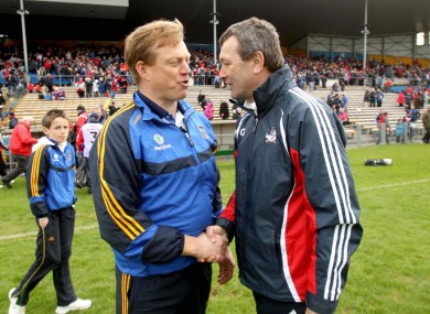 Friends or foes: Declan Ryan and Jimmy Barry-Murphy get acquainted.