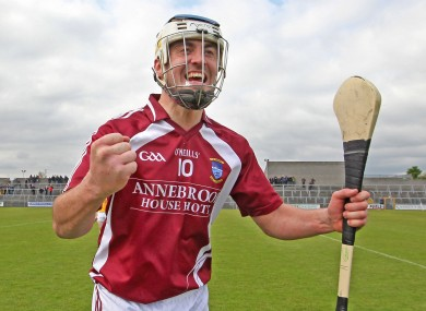 Brendan Murtagh celebrates Westmeath's win over Antrim.