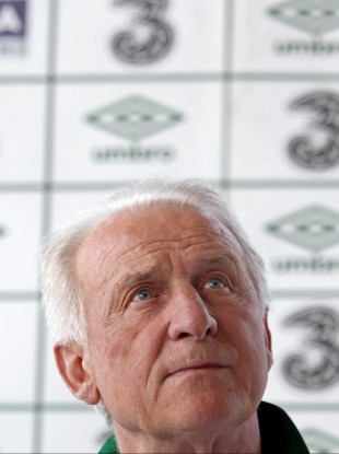 Divine intervention: Ireland manager Giovanni Trapattoni. 
