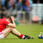 Cork's Christopher Joyce dejected after the Rebels' defeat to Tipperary in the Munster U21 Hurling quarter-finals. (©INPHO/James Crombie)