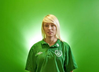 Stephanie Roche ahead of Ireland's UEFA Women's Euro 2013 qualifiers against Wales and Scotland.