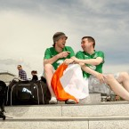 Brendan Doogal and Anthony Murphy from Maynooth in the German capital this morning.