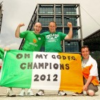 Jason Whitehand, Broin Mooney, Fiachra Mooney and Darren Dunne from Celbridge.