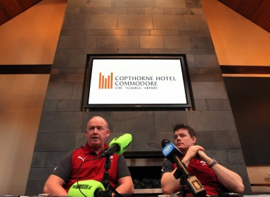 Ireland Head Coach Declan Kidney and Ireland Captain Brian O'Driscoll during the press conference.