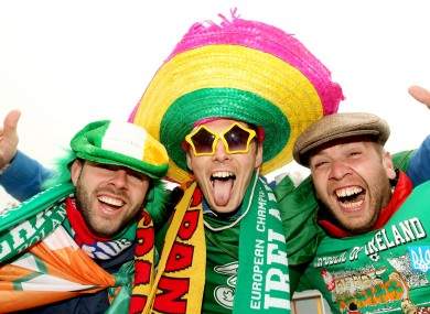 Ireland fans before the Spain game this week.