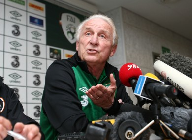 Trapattoni has paid little heed to Keane's comments about the Irish team.