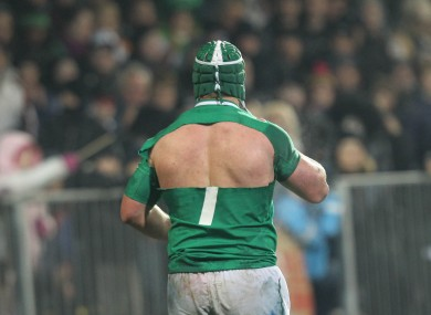 Sean O'Brien gets his shirt ripped.