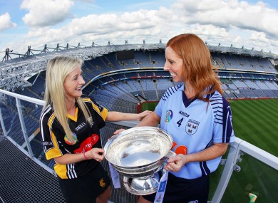 Dublin's Elaine O'Meara (right) and Catherine Doherty of Kilkenny.