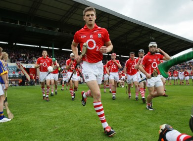 Eoin Cadogan taking to the field before Cork's Munster SHC tie on Sunday.