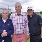 Kenny McDowell with son Graeme and Bill Murray. ©INPHO/Presseye/Russell Pritchard.