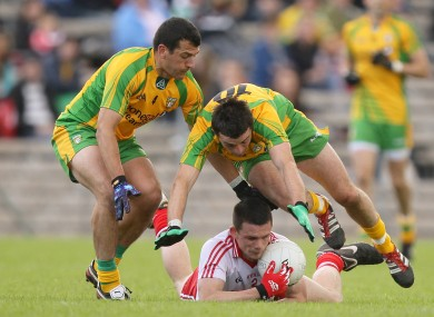 No way through: Tyrone couldn't live with Donegal's intensity and energy