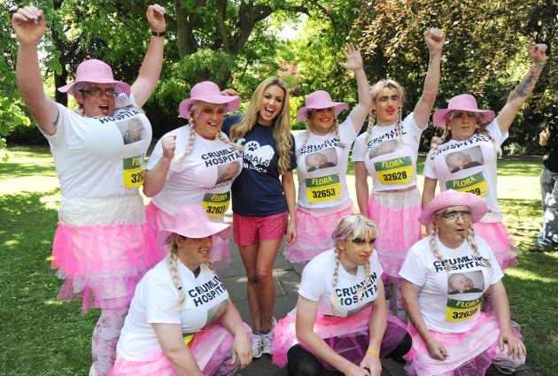 04/06/2012. Rosanna Davison leads Team ISPCA in th