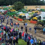 208 combine harvesters from all around the country gathered in a field in Platin Co Meath in an attempt to break the World Record for most combine harvesters working in a field simultaneously. All photos: Laura Hutton/Photocall Ireland