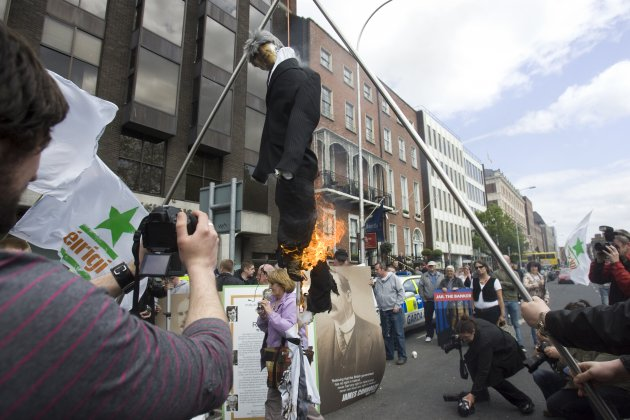 15/5/2010. Anglo Irish Banks Protests