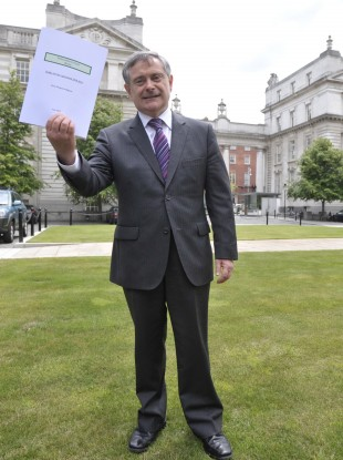 Brendan Howlin with the first progress report of the Croke Park Implementation Body.