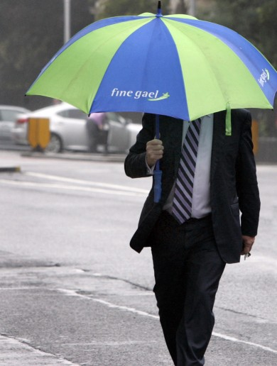'He's Just Like Us' Pic of the (Rainy) Day