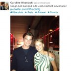 Caroline Wozniacki gets star struck.
