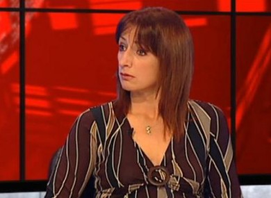 Clare Daly on TV3 last night
